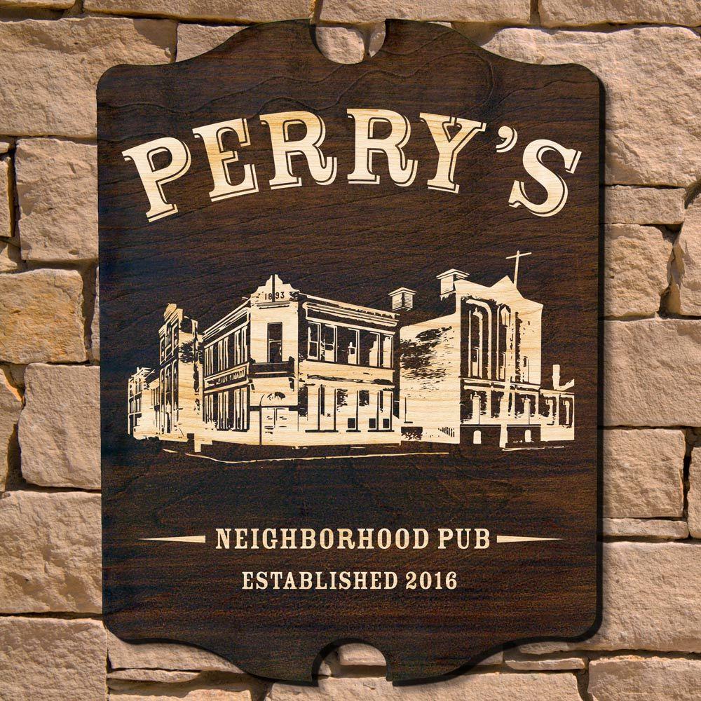 Neighborhood Pub Personalized Bar Sign (Signature Series)