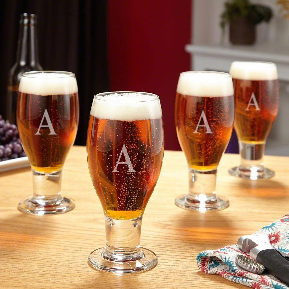 Concord Engraved Beer Glasses, Set of 4
