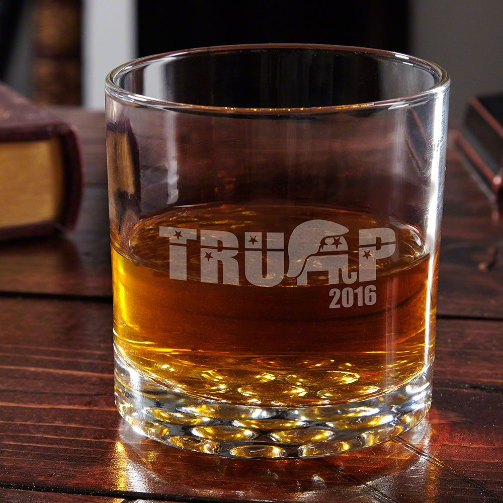 Support Trump Engraved Buckman Whiskey Glass