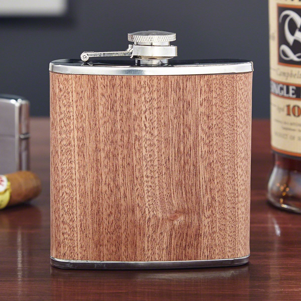 Walden Wood Liquor Flask