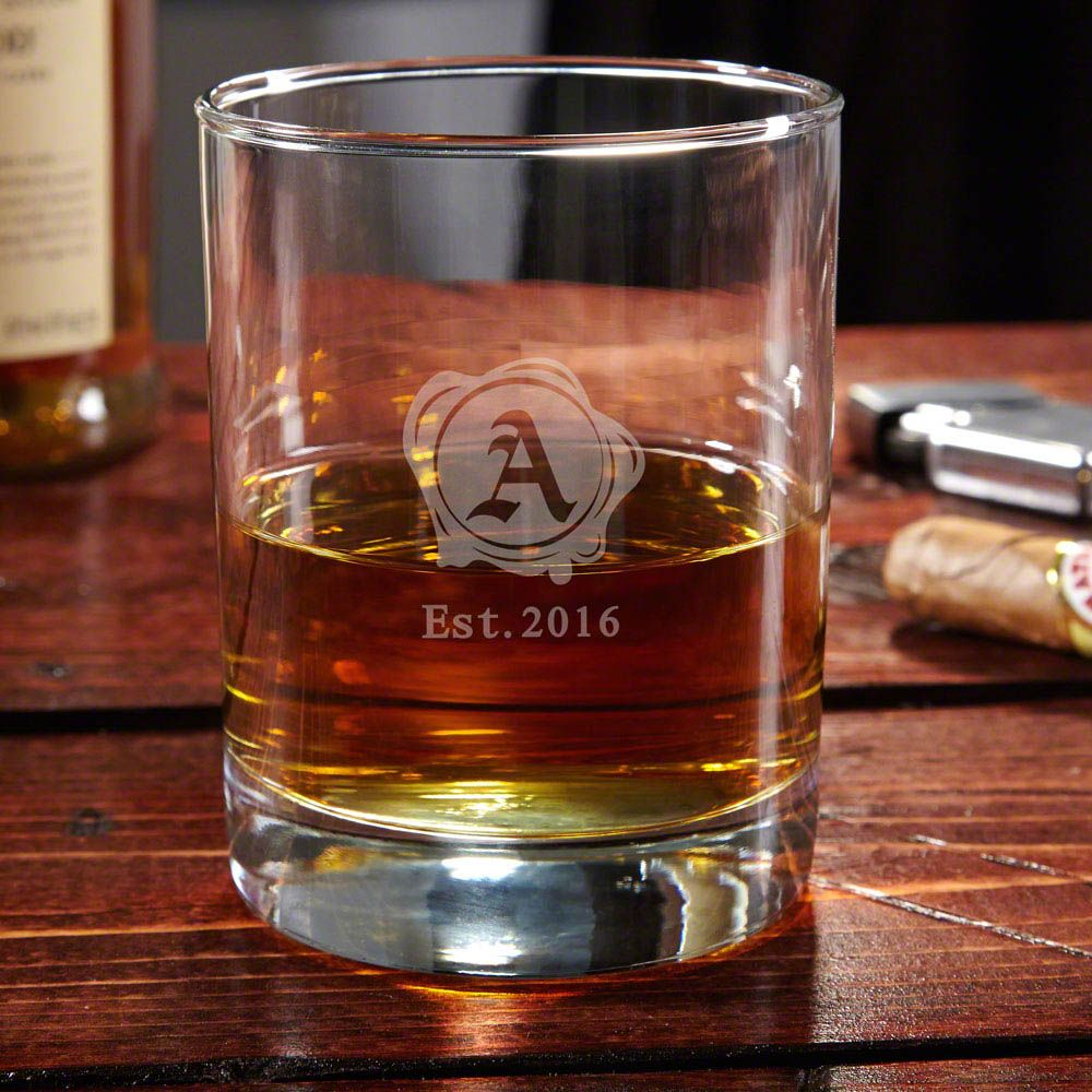 Signet Personalized Whiskey Glass