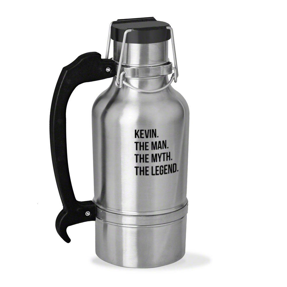 The Man The Myth The Legend Personalized Drink Tank Growler