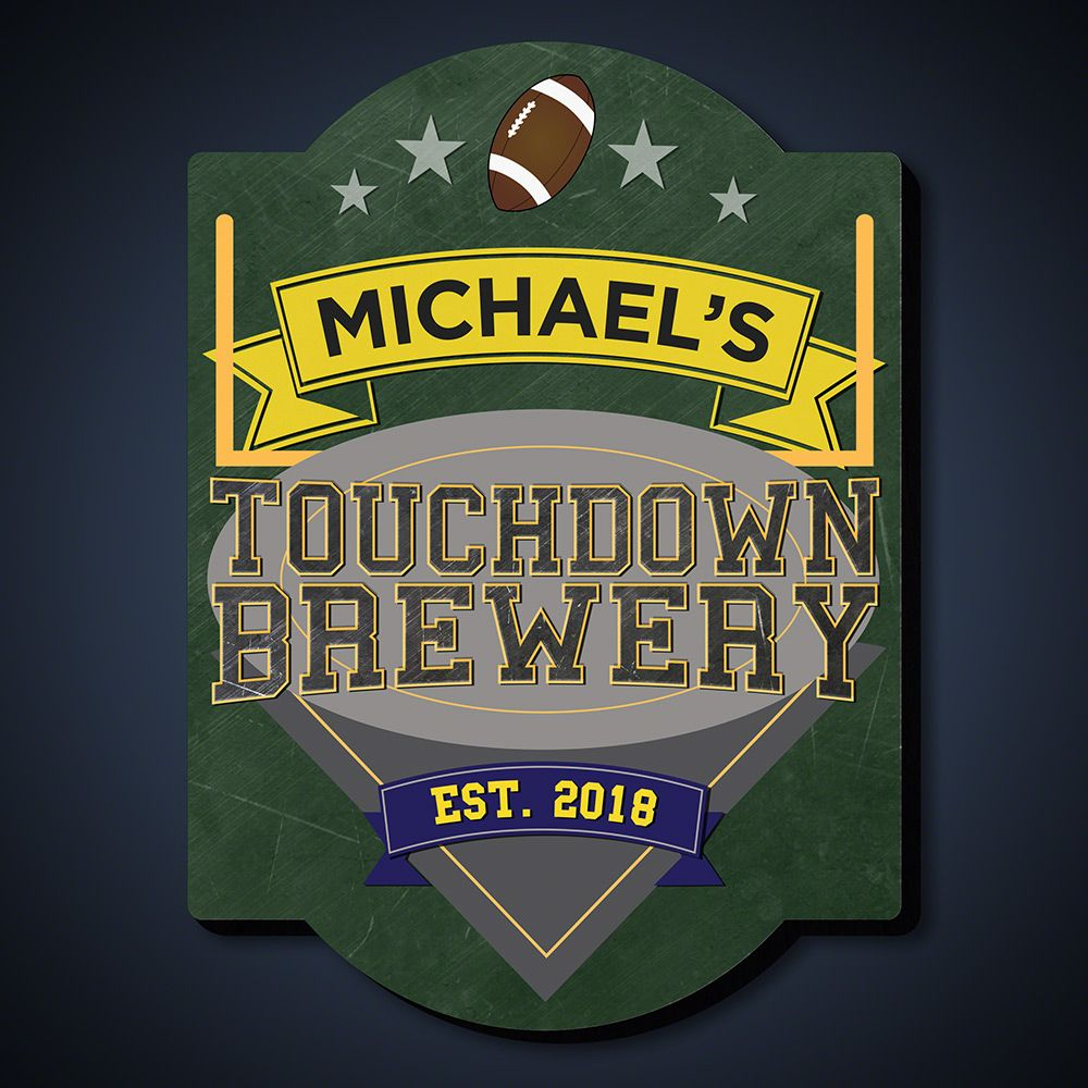 Touchdown Brewery Personalized Bar Sign