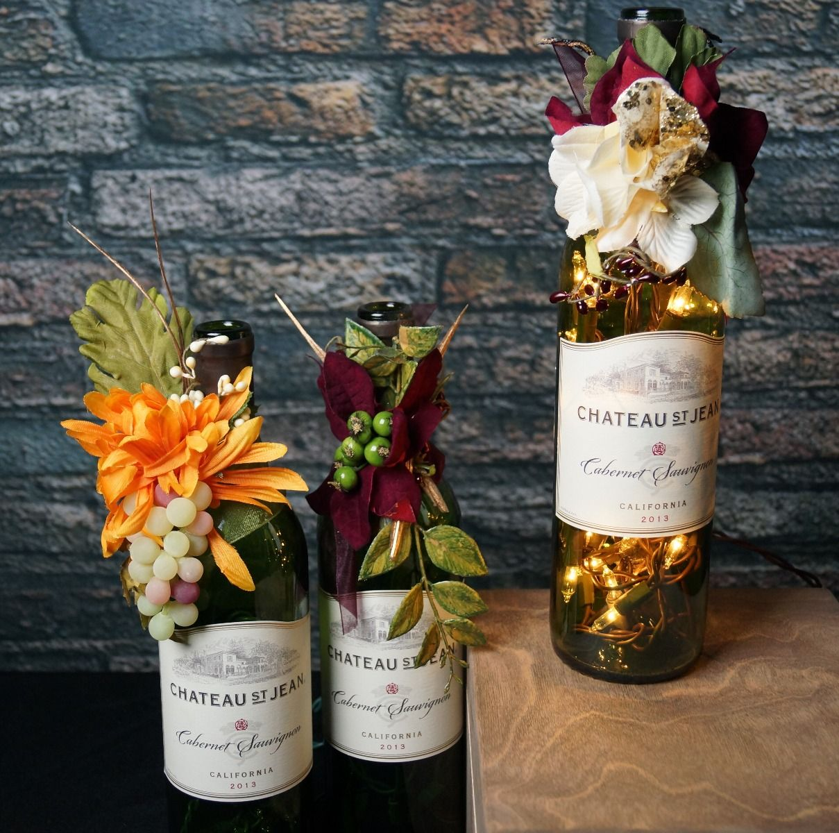 Tuscan Red Wine Bottle Lamp