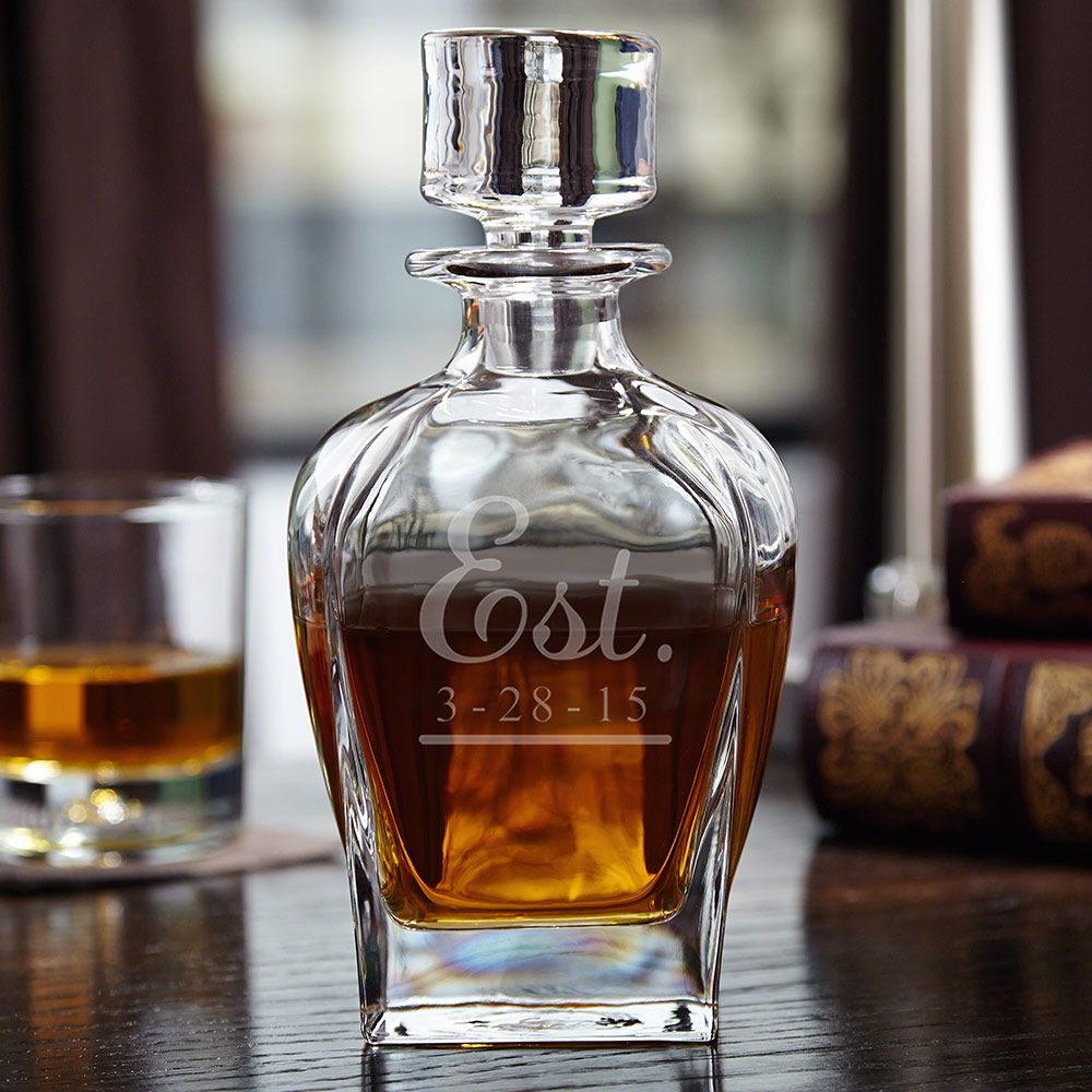 Well Established Personalized Liquor Decanter