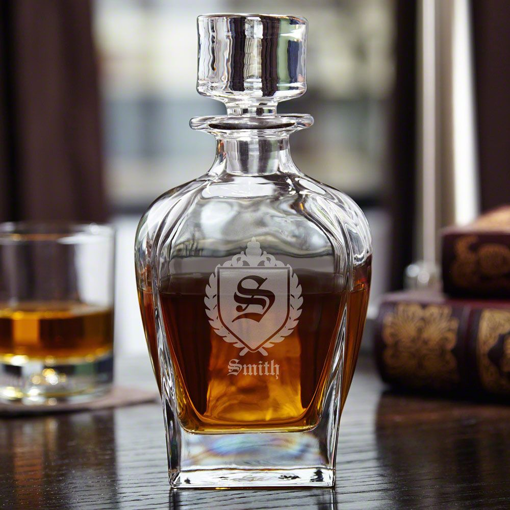 Draper Personalized Whiskey Decanter with Oxford Monogram