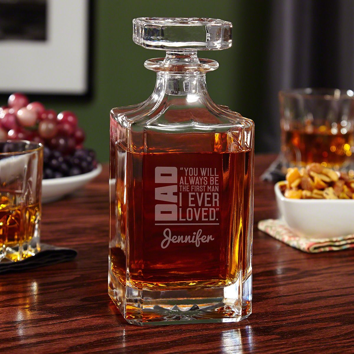 From Daughter to Dad Custom Whiskey Decanter