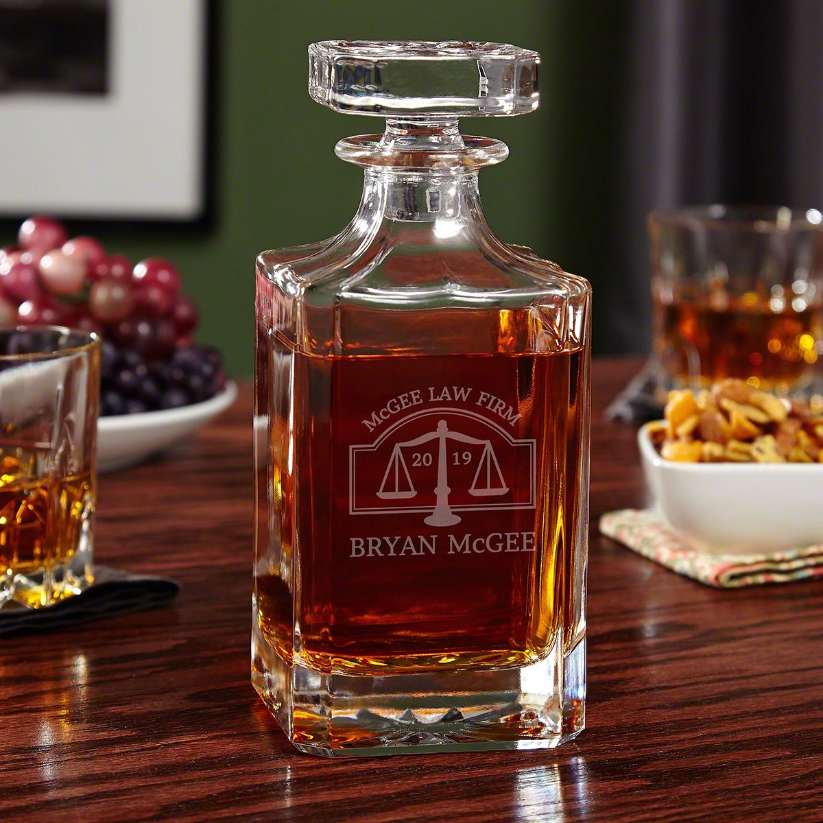 Personalized Hamilton Whiskey Decanter