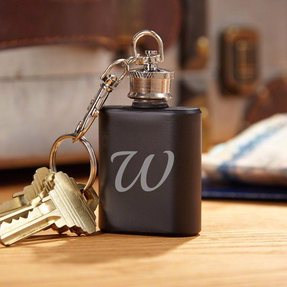 Blackout Personalized Keychain Flask
