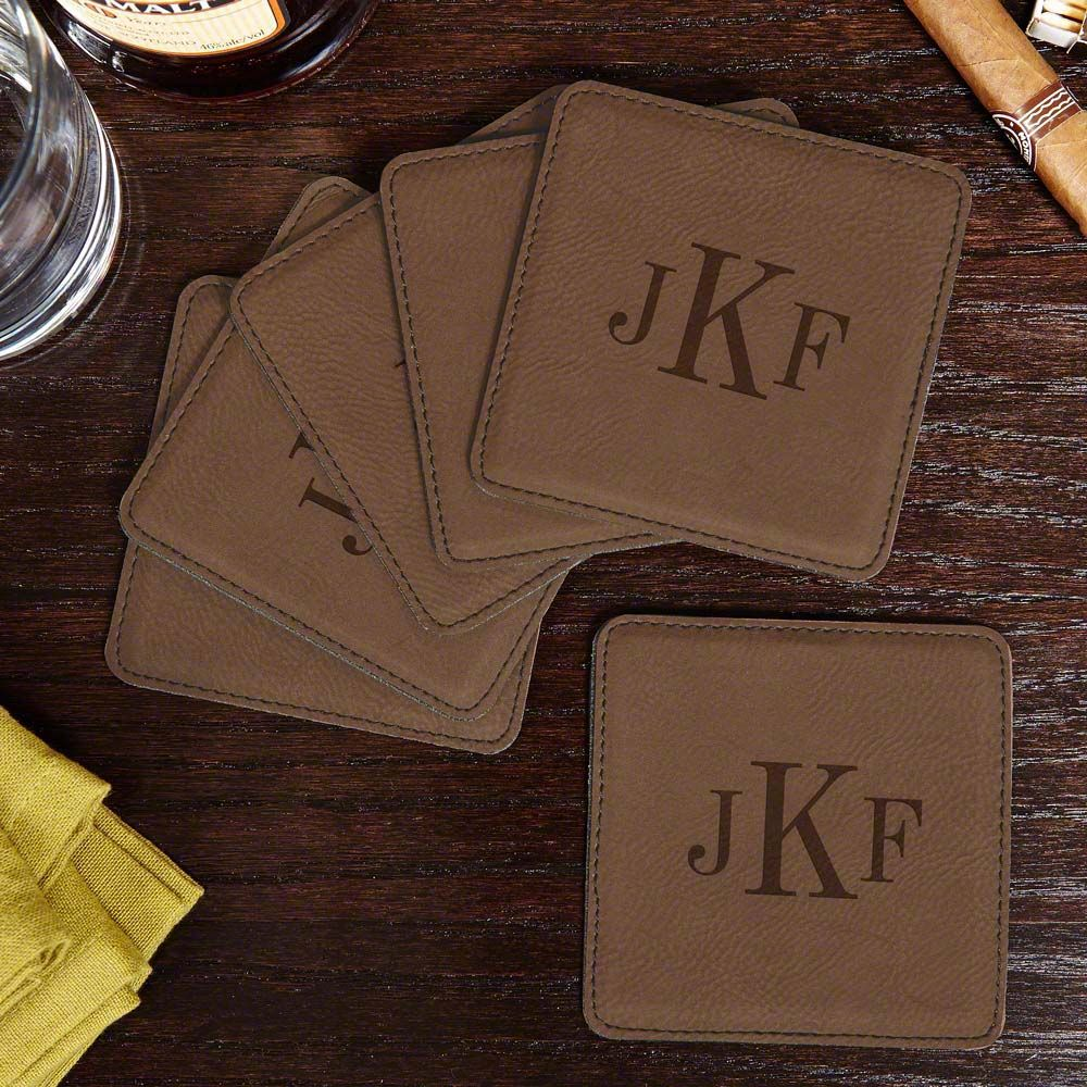 Lincoln Square Classic Monogram Coasters, Set of 6