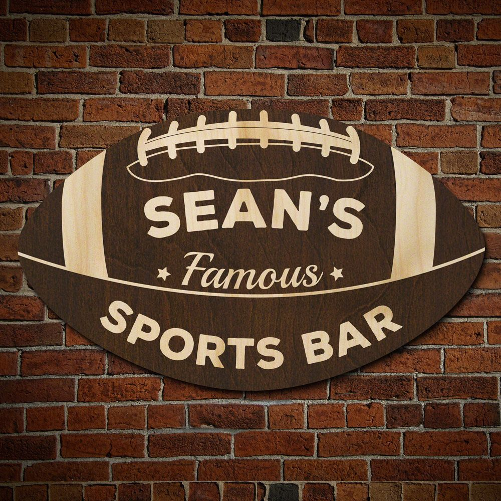 d920fd29a Football Fan Personalized Sports Bar Sign (Signature Series)