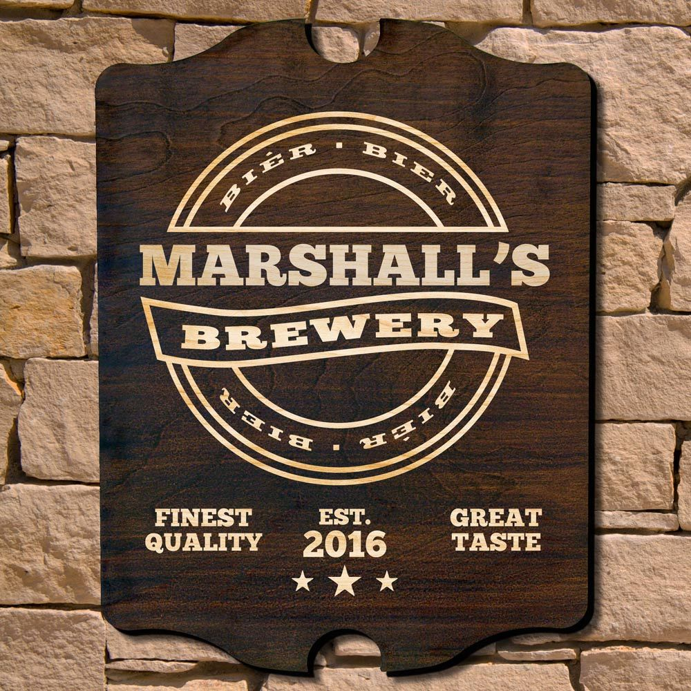 Personalized Brewery Bar Sign (Signature Series)