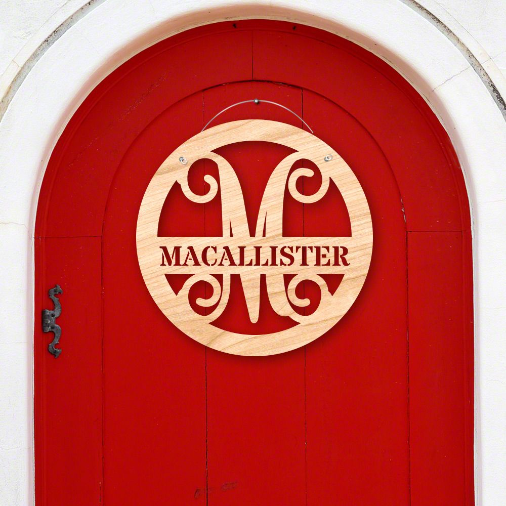 Personalized Thatcher Door Hanger