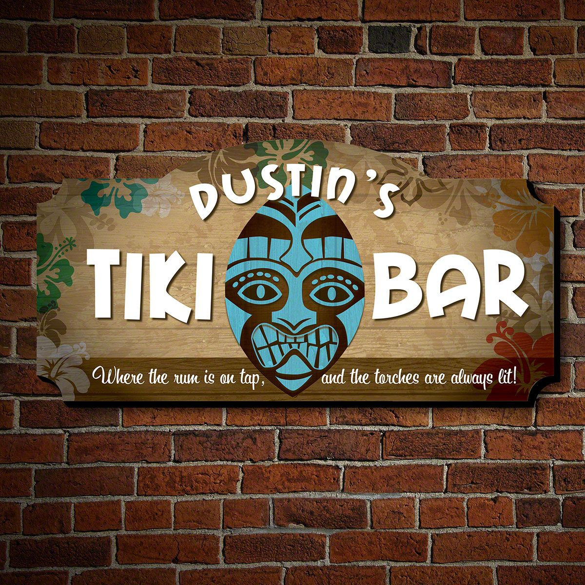 Freaky Tiki Mask Custom Sign