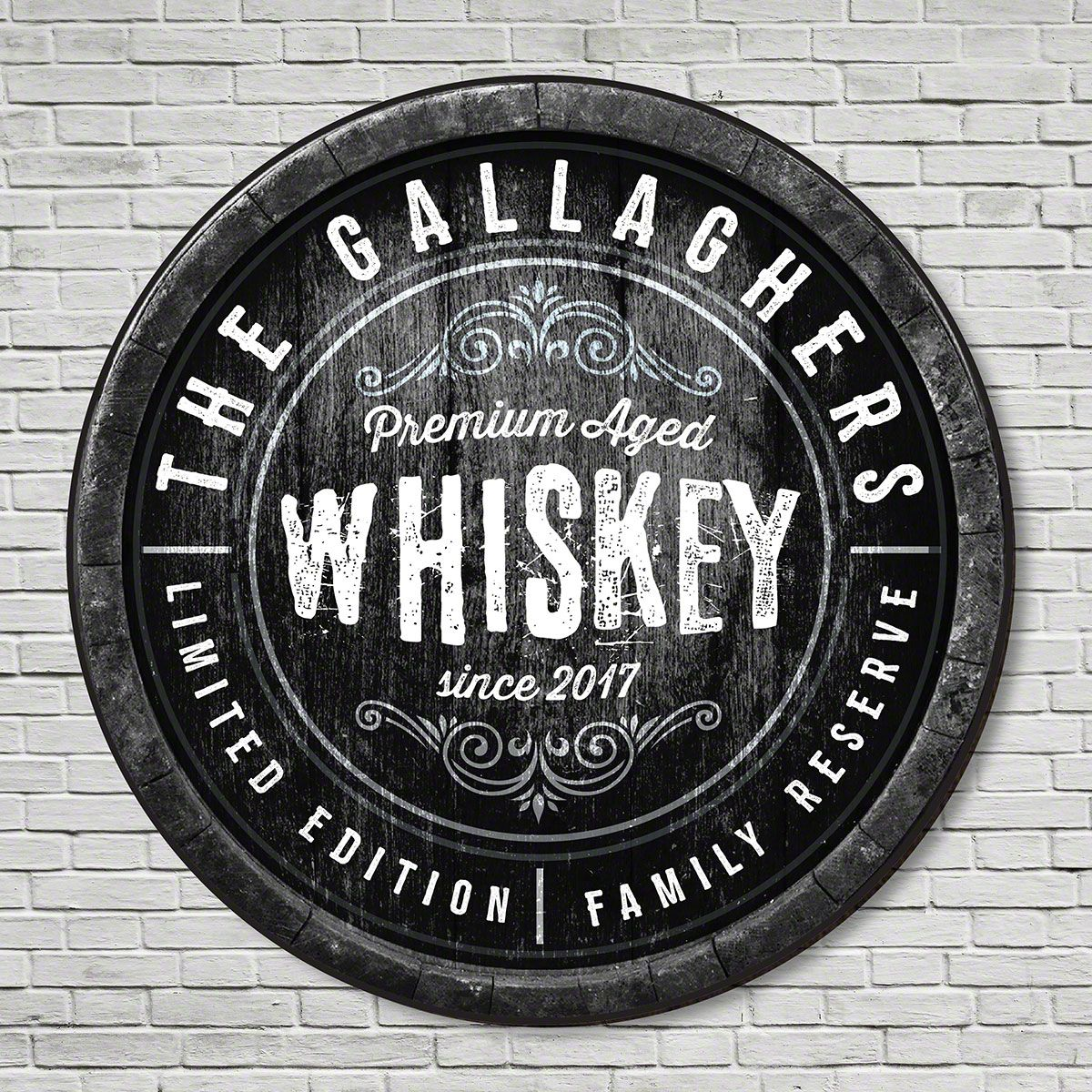 Family Reserve Custom Made Whiskey Sign