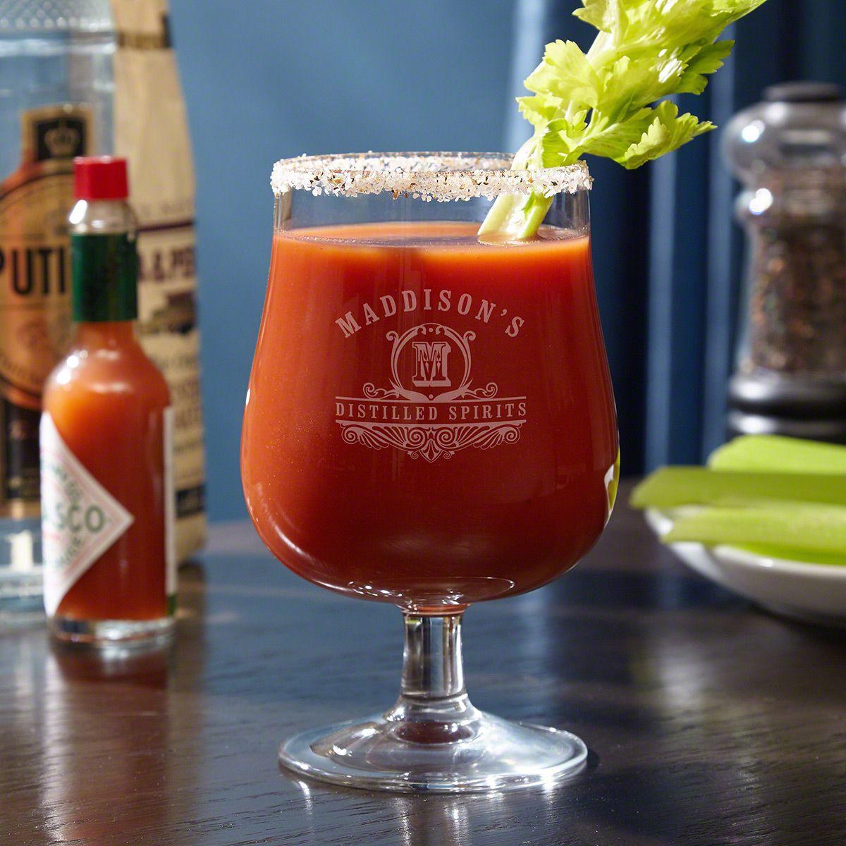 Carraway Monogram Hurricane Bloody Mary Glass