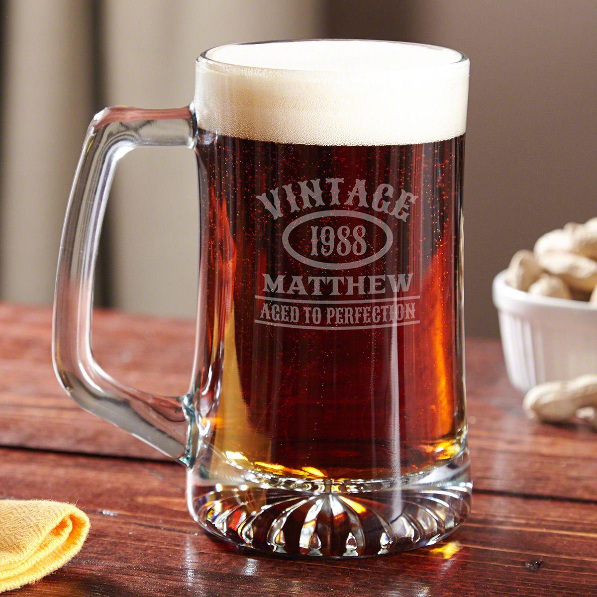 Aged to Perfection Beer Mug