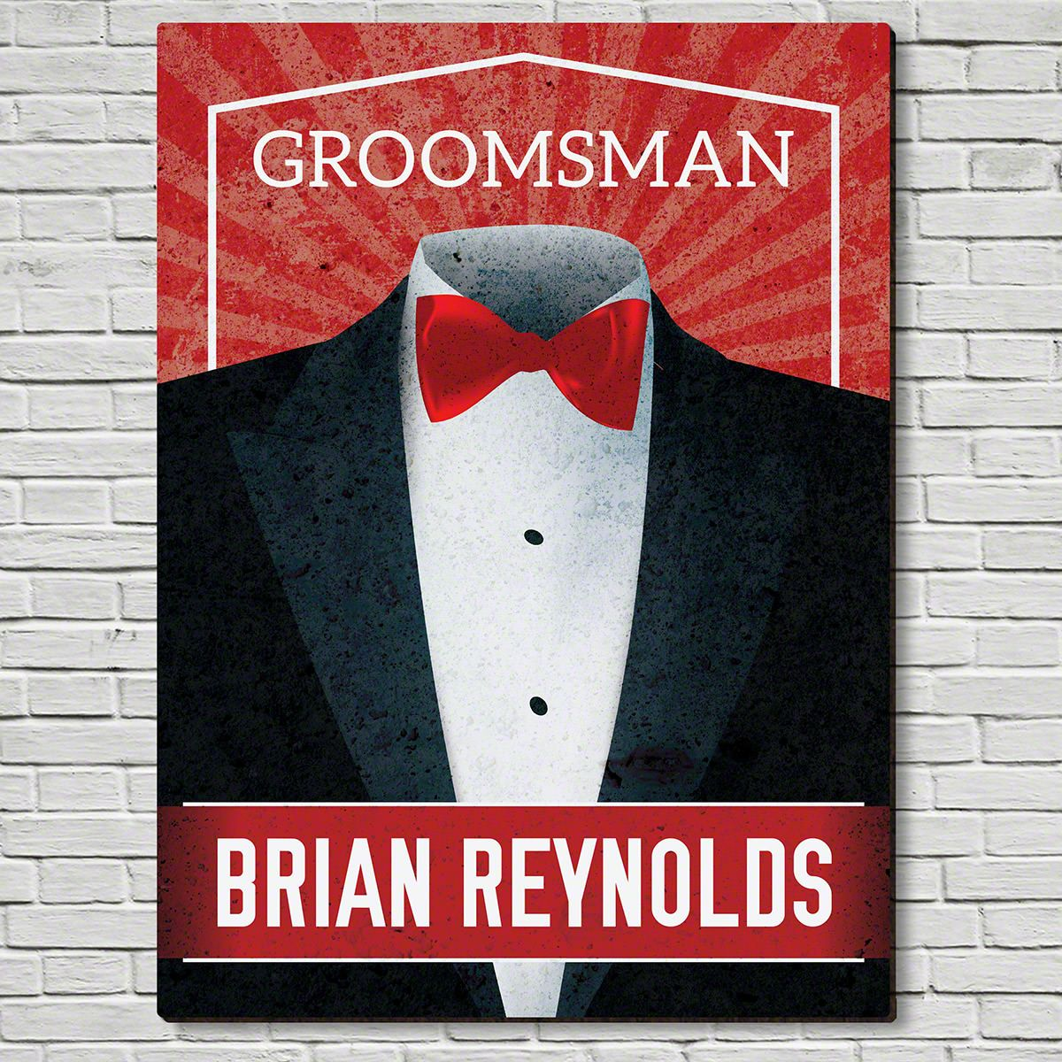 Suit Up Wooden Sign Unique Groomsmen Gift