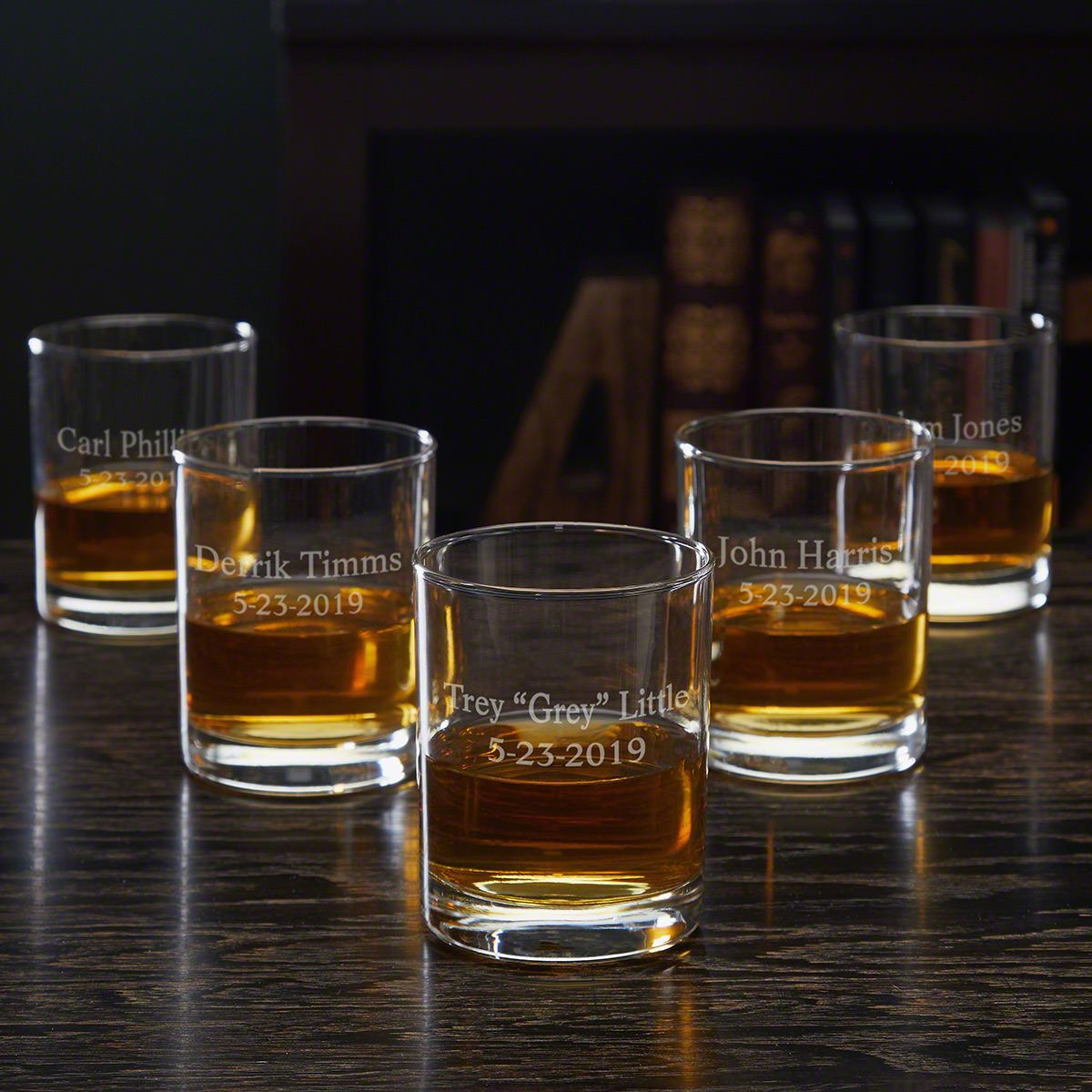 Eastham Personalized Whiskey Glasses for Groomsmen – Set of 5