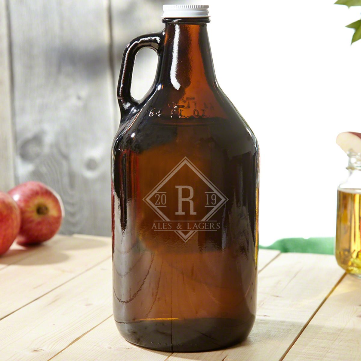 Drake Amber Personalized Beer Growler
