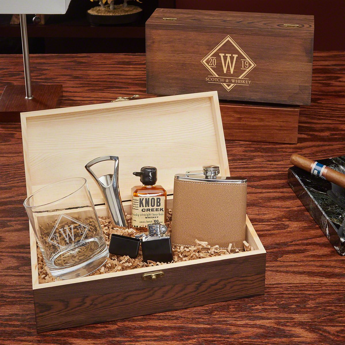 Drake Personalized All the Vices Whiskey Gift Box Set
