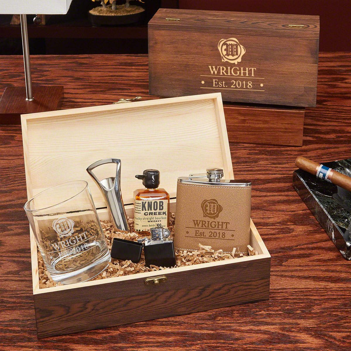 Wax Seal All The Vices Personalized Whiskey Gift Set