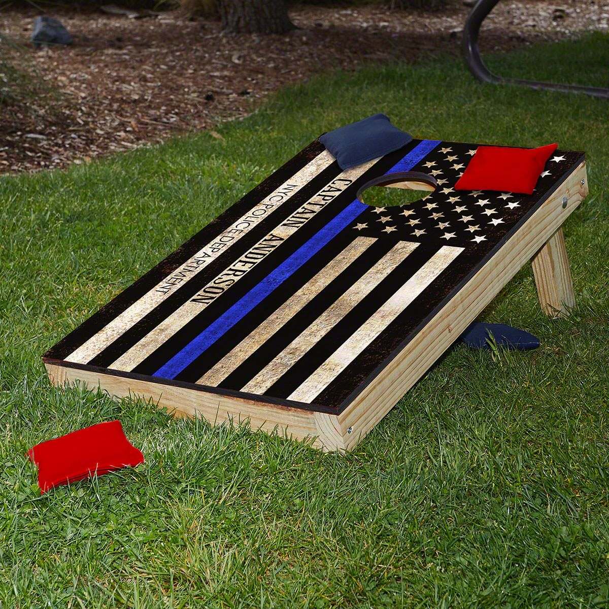 Courage and Honor Customized Police Gift and Bean Bag Toss Game
