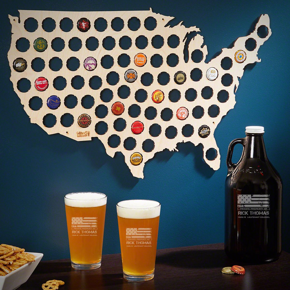 American Heroes Custom Beer Lover Set – Military Gifts for Him
