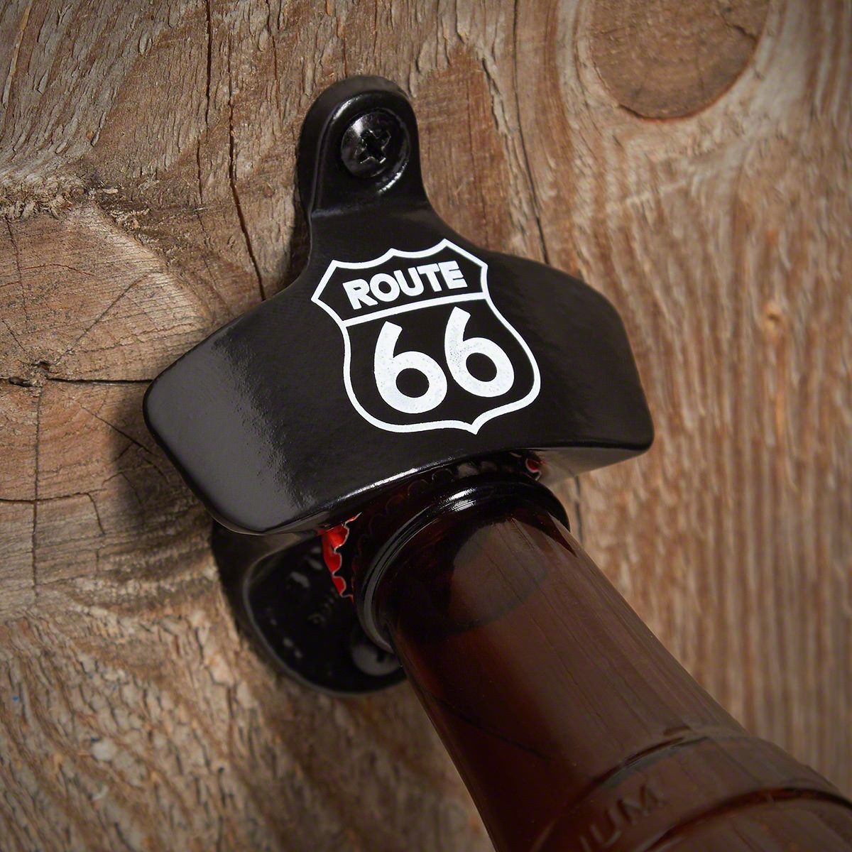 Route 66 Wall Mounted Bottle Opener