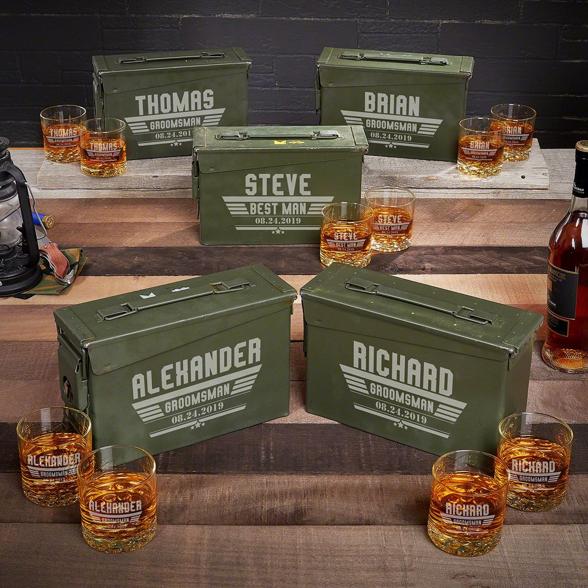 Maverick Personalized Ammo Can Modern Groomsmen Gifts – Set of 5