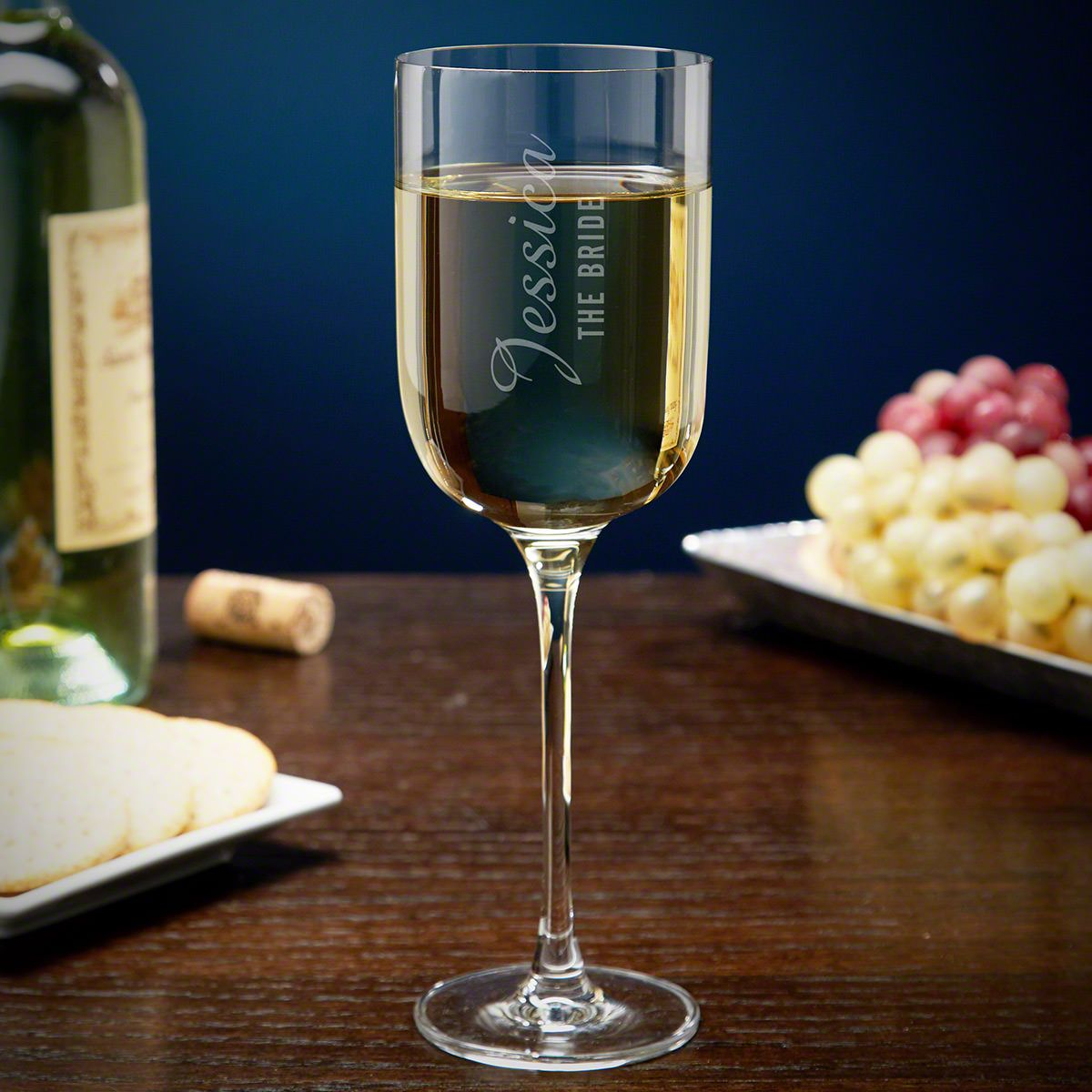 Wedding Party Custom White Wine Glass for Wedding