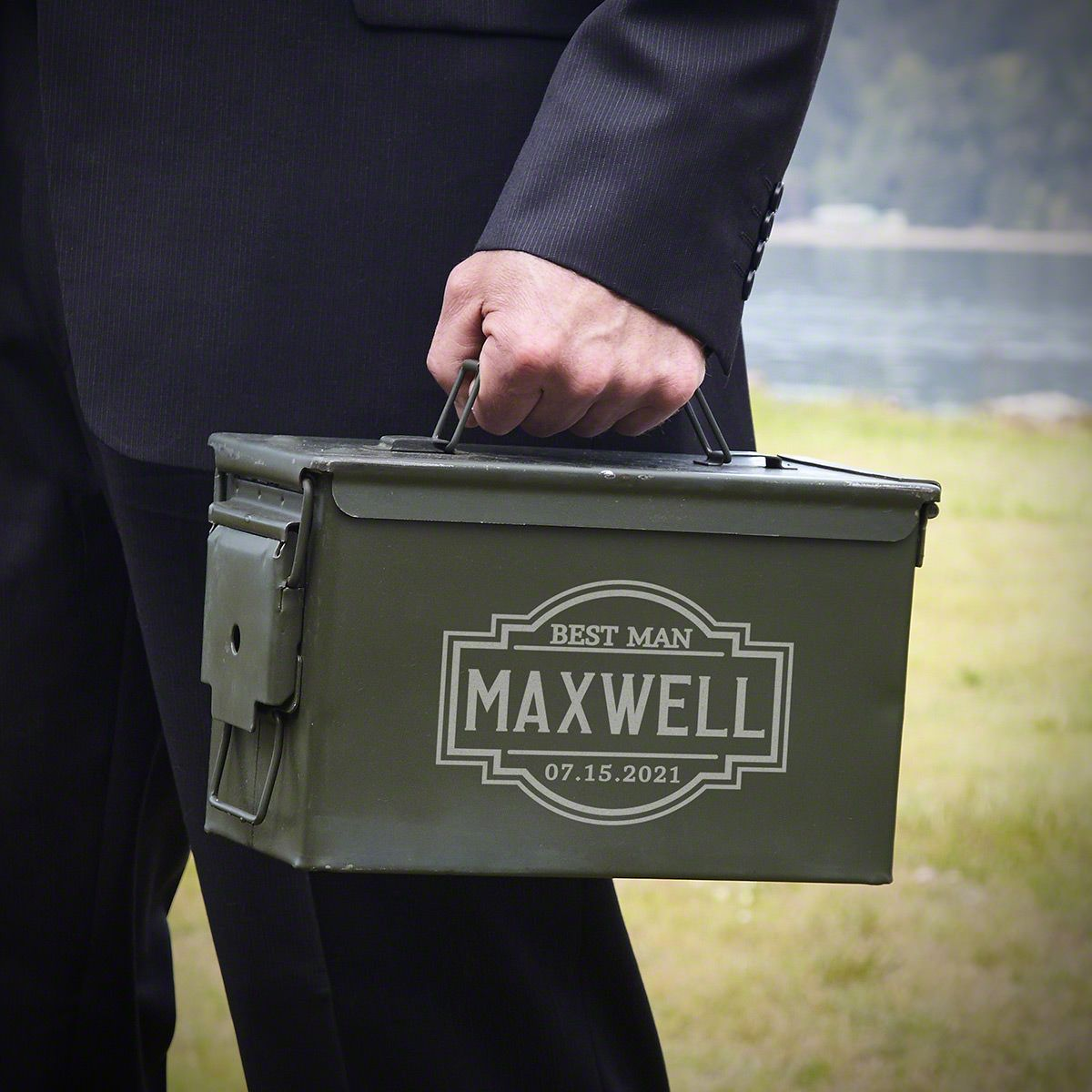 Fremont Engraved 50 Caliber Ammo Can – Gift for Men