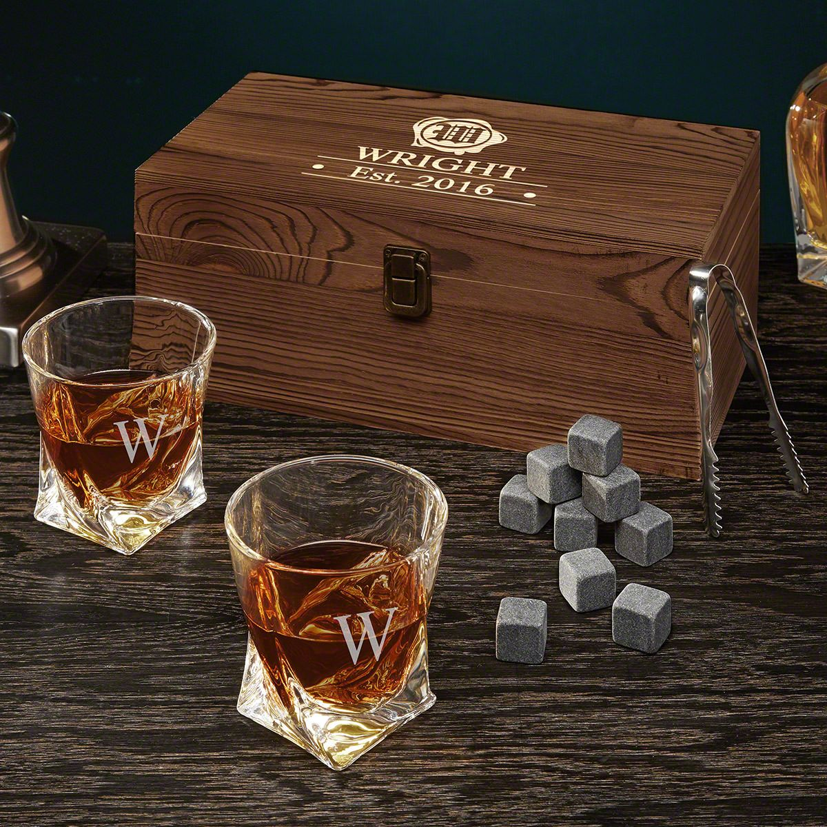 Wax Seal Personalized Whiskey Set
