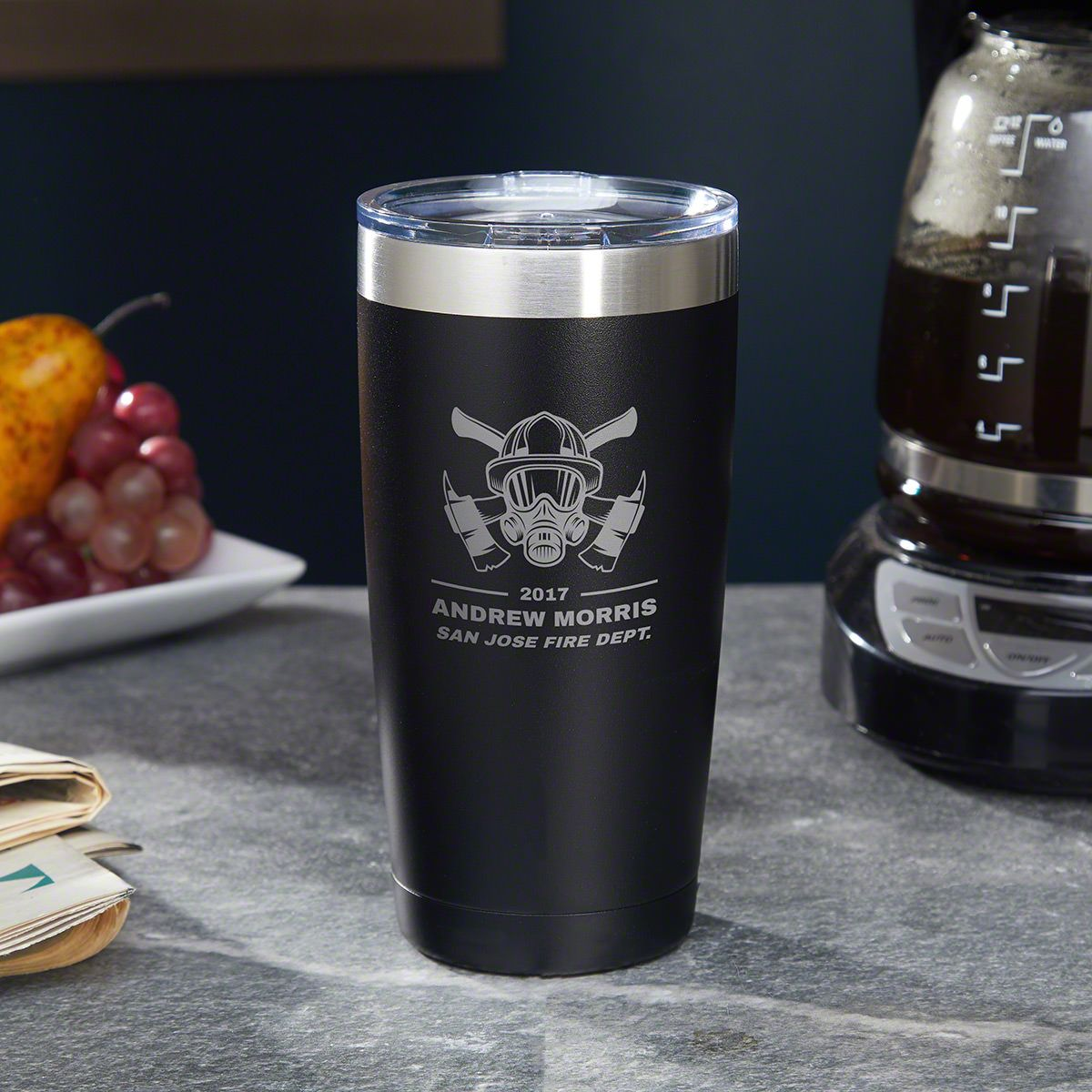 Hot Times Custom Coffee Tumbler – Gift for Firefighters