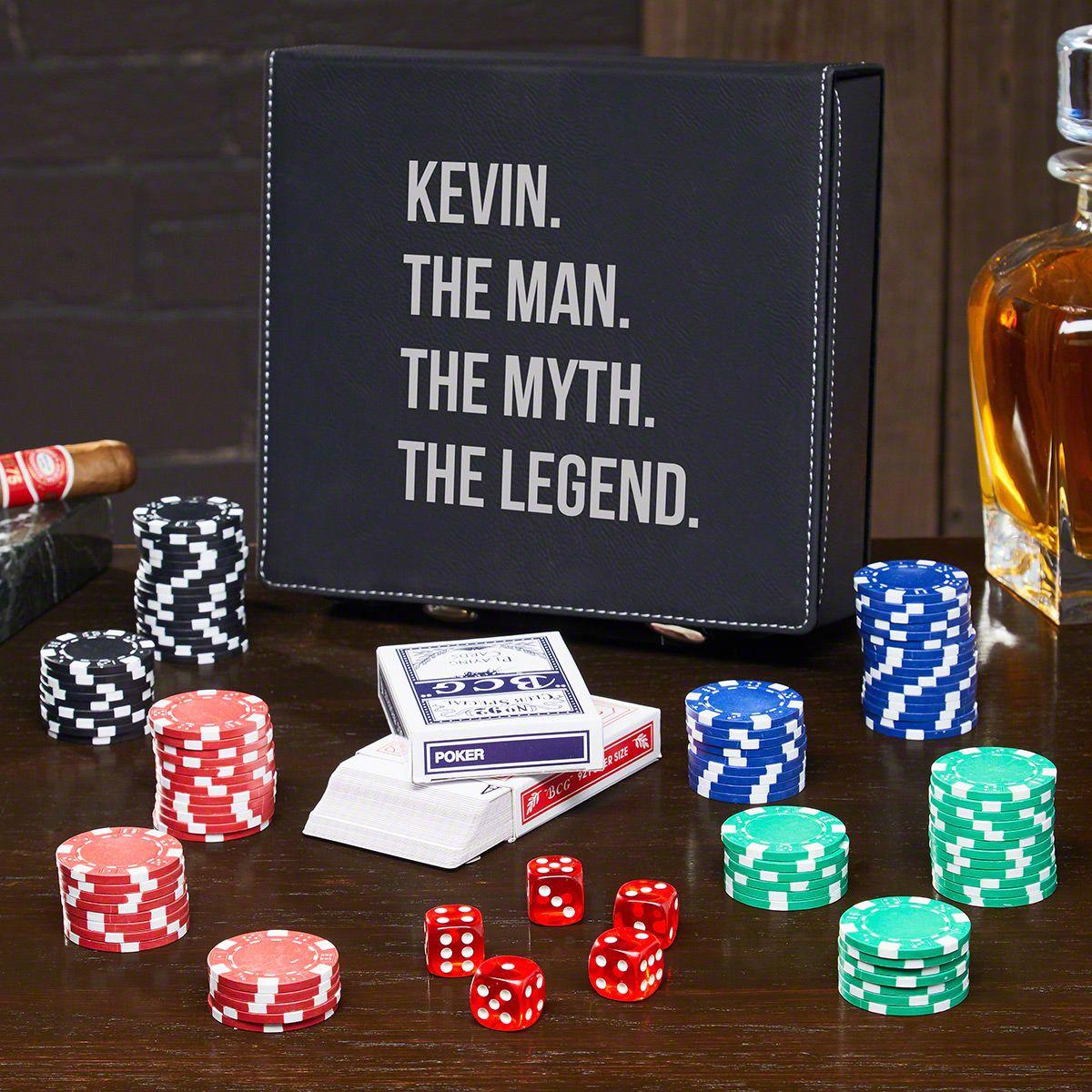 Man Myth Legend Personalized Poker Set