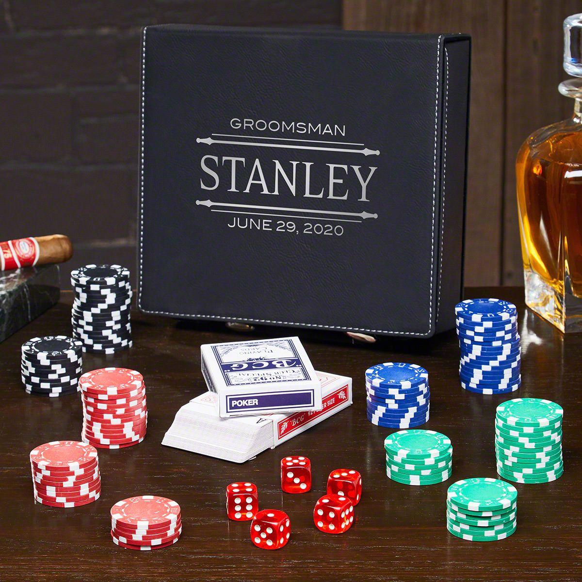 Stanford Personalized Poker Set - Gift for Groomsmen
