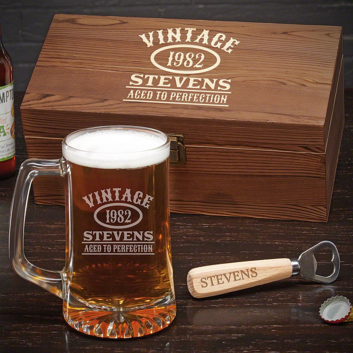 Aged to Perfection Custom Beer Gift for Men