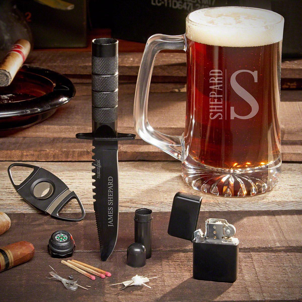 Elton Custom Tactical Knife & Beer Gift Set