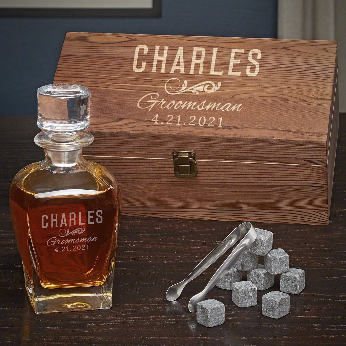 Classic Groomsman Draper Decanter Personalized Whiskey Gift for Best Man