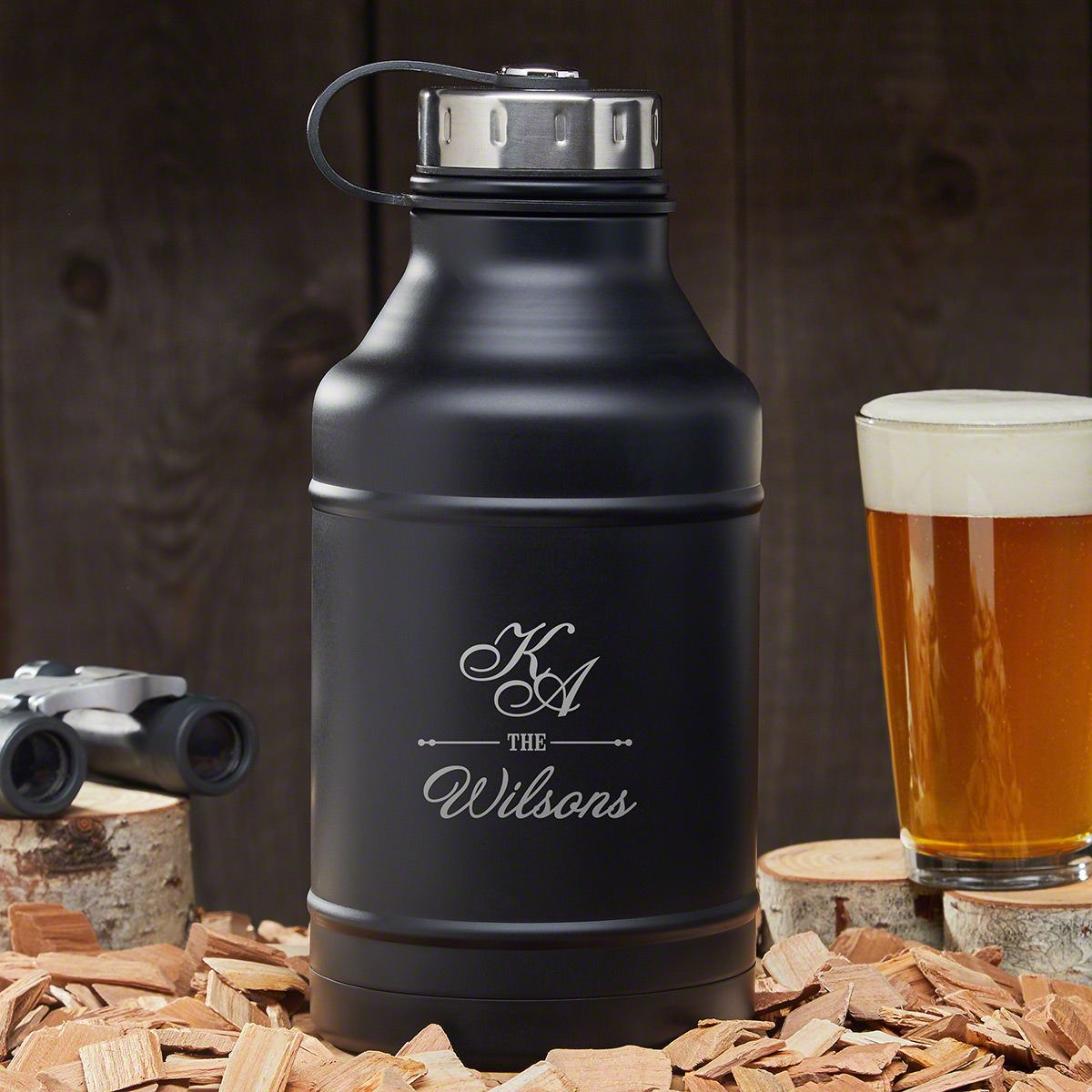Sheridan Personalized Double Walled Beer Growler - Gift for Couples