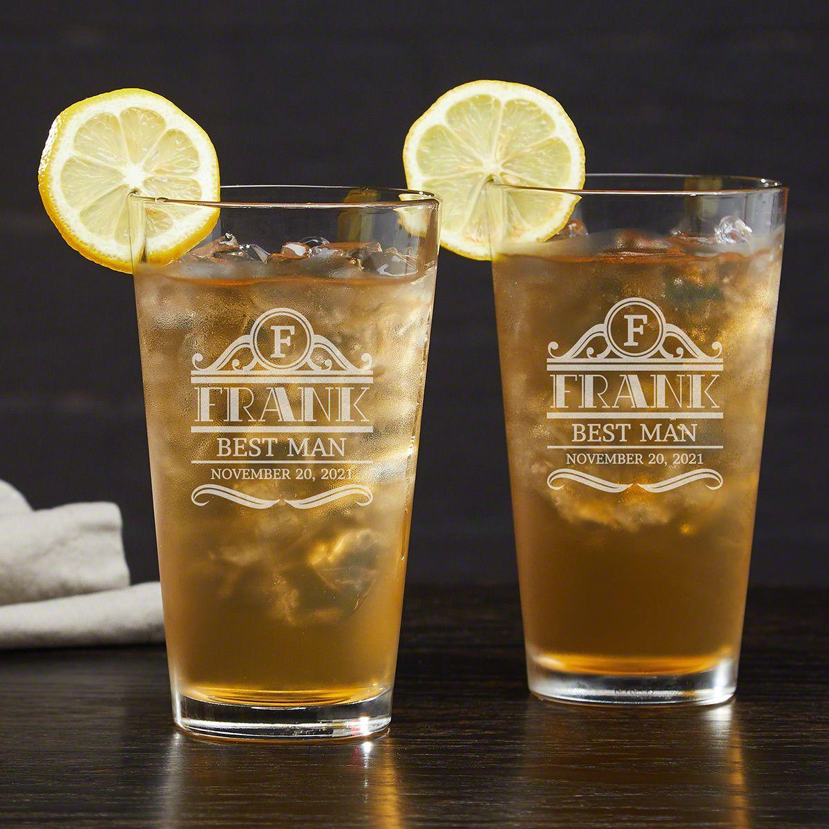 Rockefeller Personalized Long Island Iced Tea Glasses - Set of 2