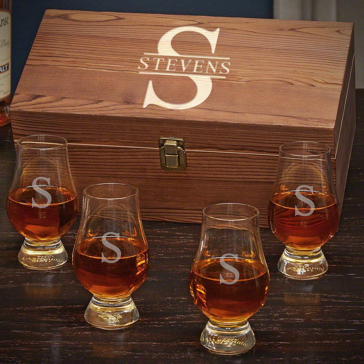 Oakmont Personalized Glencairn Whiskey Gift Set