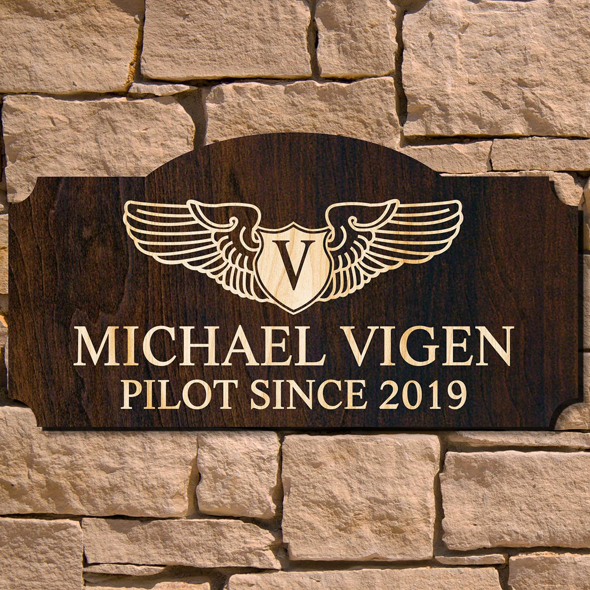 Take Flight Custom Wooden Sign - Gift for Pilots (Signature Series)