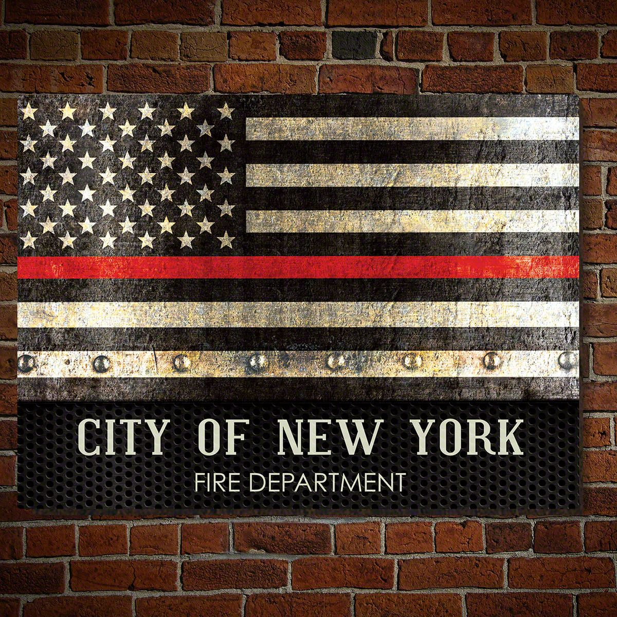 Thin Red Line Personalized Sign - Firefighter Gift