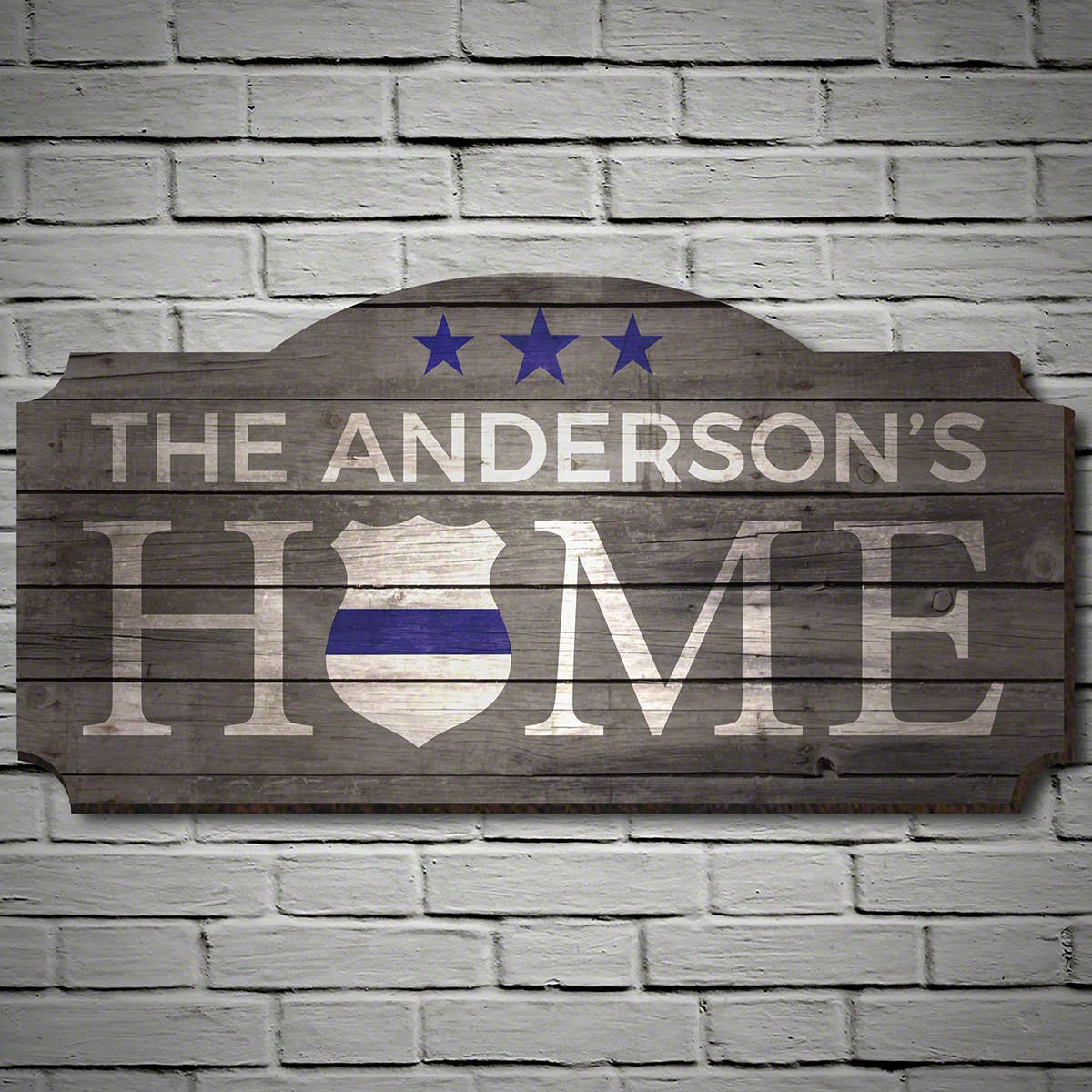 Blue Shield Traditions Personalized Sign – Gift for Police Officers