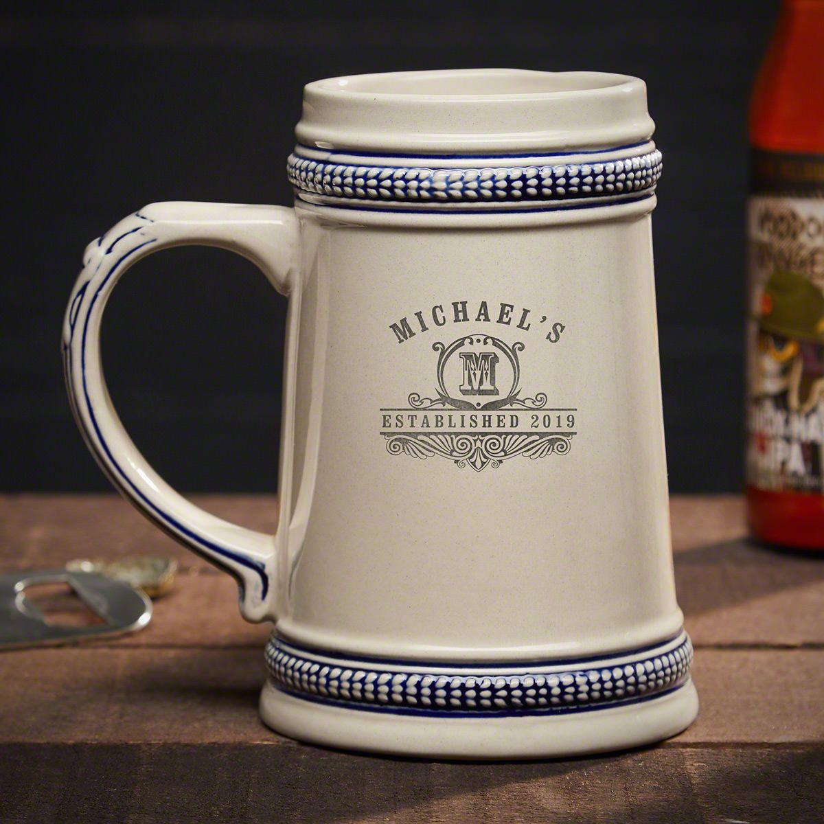 Carraway Engraved Ceramic Beer Stein