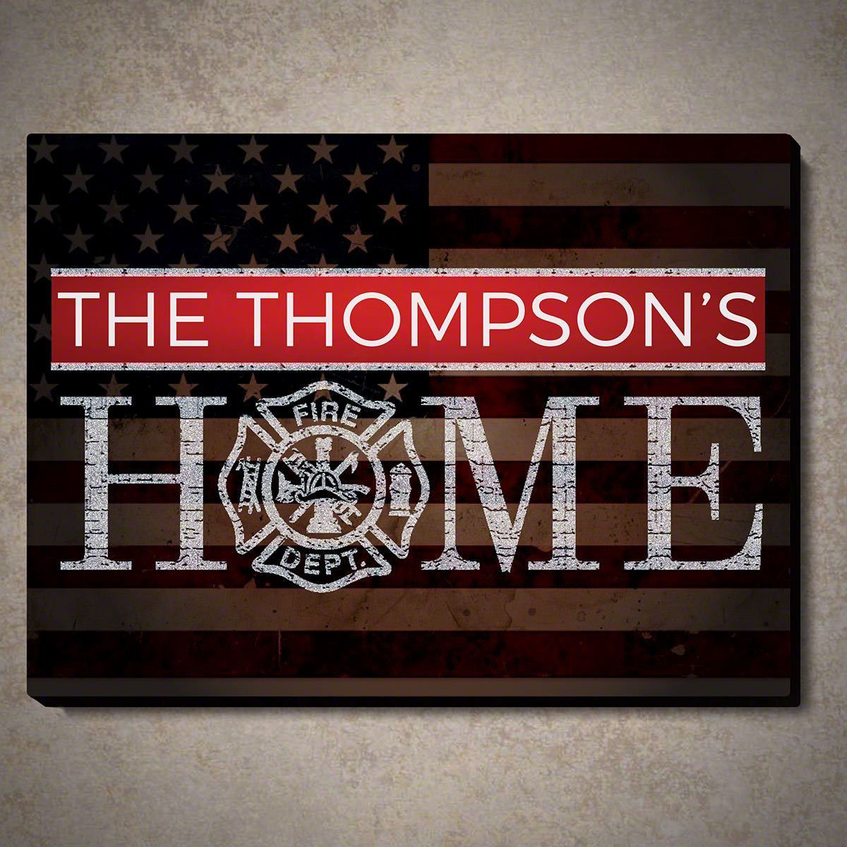 Flags And Honor Personalized Wood Sign Gift For Firefighters