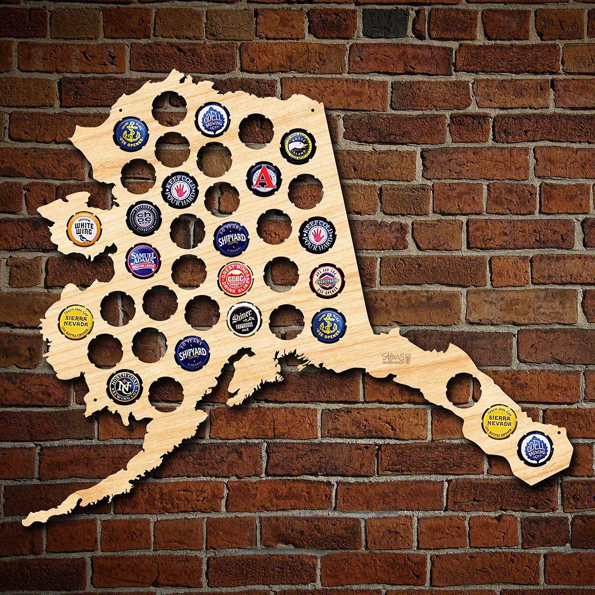 Alaska Beer Cap Map