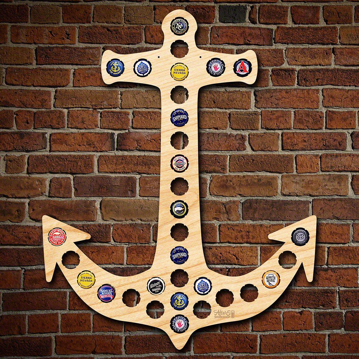 Anchor Beer Cap Map
