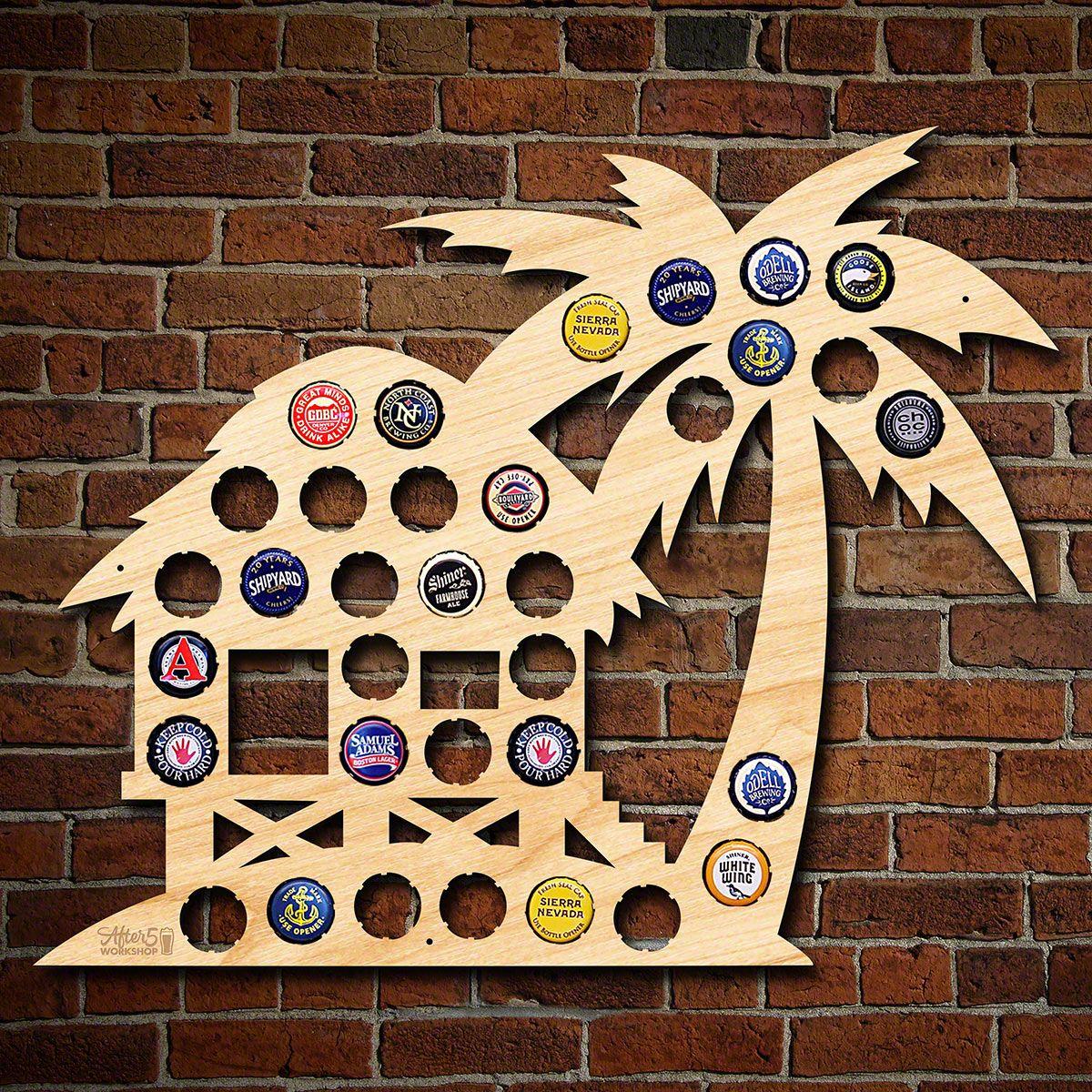 Beach Hut Beer Cap Map